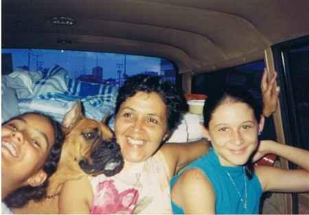 Viajando en el auto con un perro